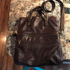 Fossil Leather Crossbody Bag